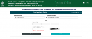 bpssc police excise si admit card hall ticket downloading process